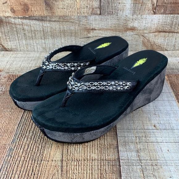 Volatile Thong Wedge Flip Flops